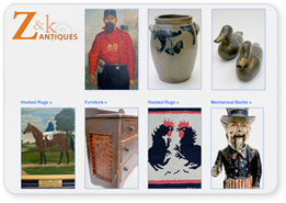 Z and K Antiques: Specializing in Early American Antiques, Fine Art, Folk Art, Americana, American Stoneware, Antique Primitives, Country Antiques...